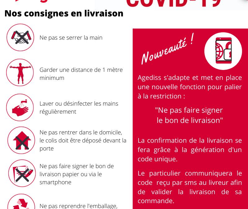 Coronavirus : Agediss sécurise ses livraisons
